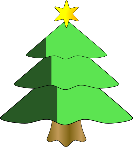 540x595 Christmas Tree Clip Art Christmas Tree Clipart