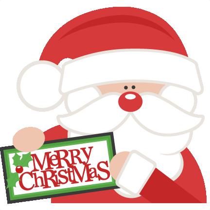 432x432 Excellent Design Cute Christmas Clipart Merry Santa Svg Scrapbook