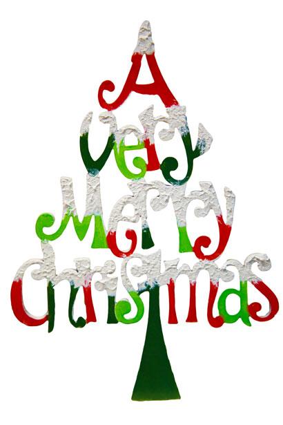 410x615 Merry Christmas Isolated Free Stock Photo