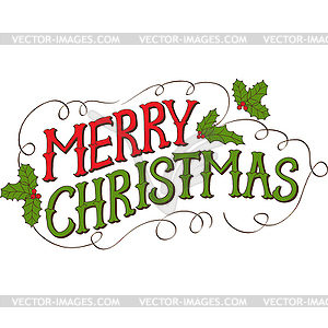 300x300 Vintage Merry Christmas Clipart Happy Holidays!