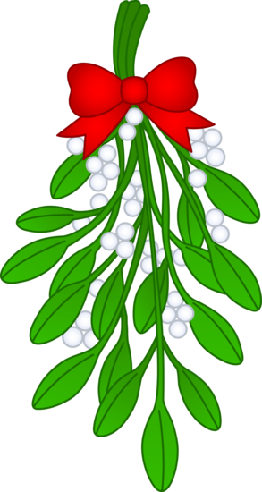 293x550 Christmas Mistletoe With Red Bow