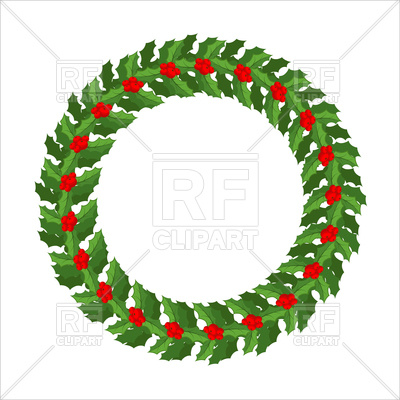 400x400 Mistletoe Wreath, Traditional Christmas Decoration Royalty Free