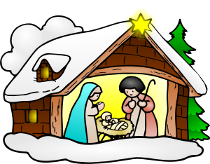 300x234 Christmas Crib Clipart Nativity Scene Clip Art