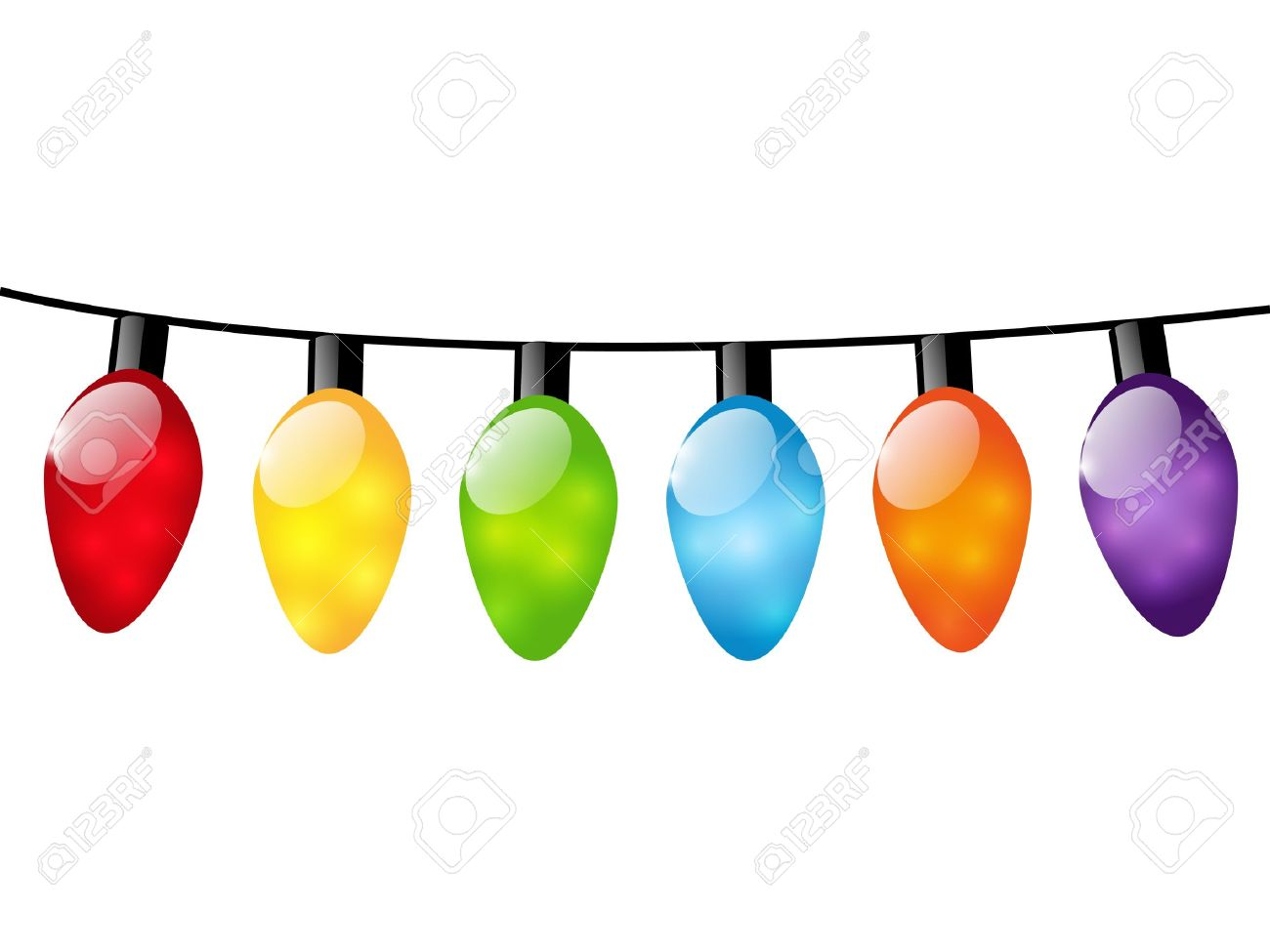 1300x975 Christmas Lights Clipart Strung Pencil And In Color Christmas