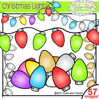 350x350 Christmas Lights In Traditional Christmas Colors Lights Clipart