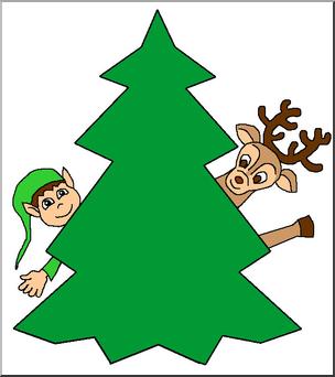 304x342 Clip Art Christmas Tree Color