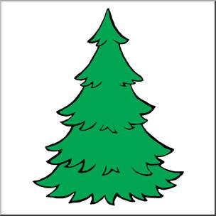 304x304 Clip Art Evergreen Tree Color I Abcteach