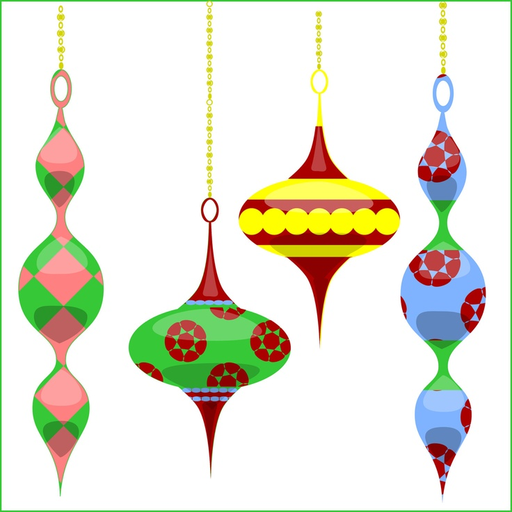 736x736 Clipart Of Christmas Tree Ornaments Green Ornament Free Clip Art