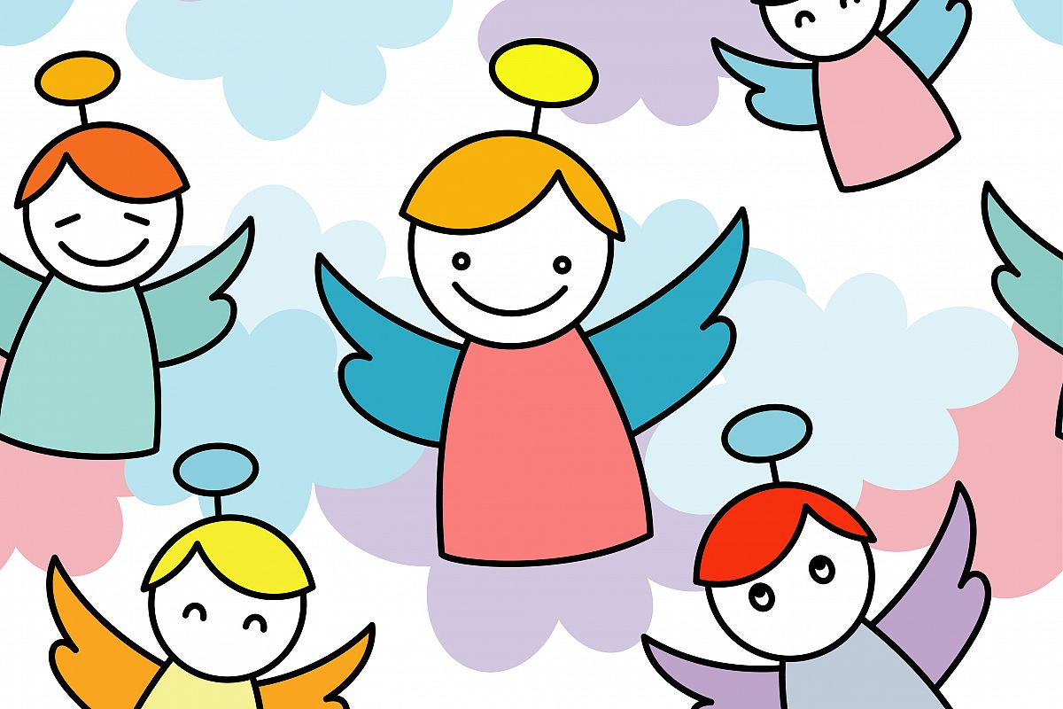 1200x800 Cool Christmas Angels Images 1 Coloring Pages