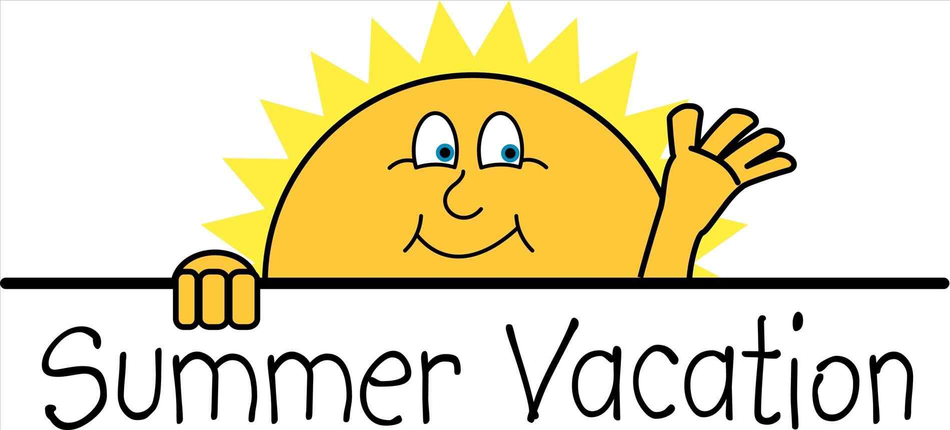 1899x859 In Color U Christmas U Summer Vacation Clip Art Black And White