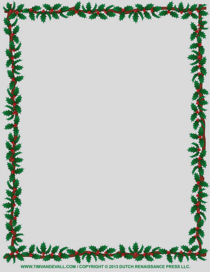 726x940 Beautiful Christmas Clip Art Borders For Word Documents Clipart