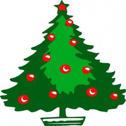 425x425 Christmas Tree Clip Art Christmas Tree Clip Art Vector Clip Art
