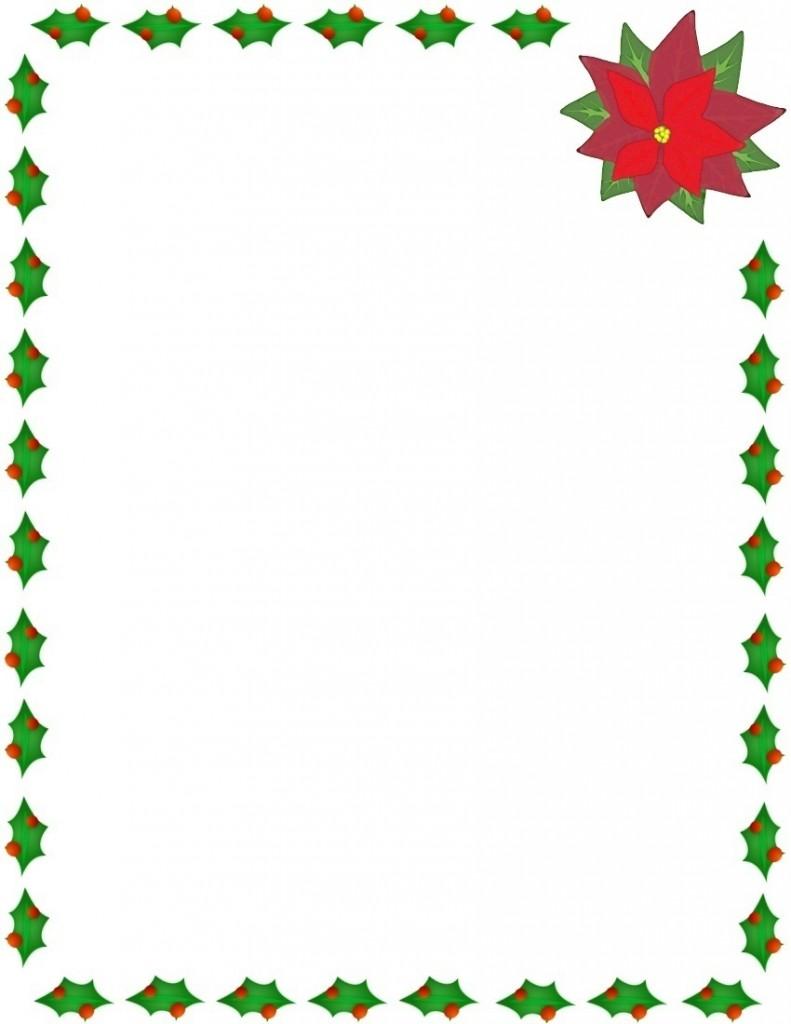 791x1024 Printable Christmas Borders For Word Documents