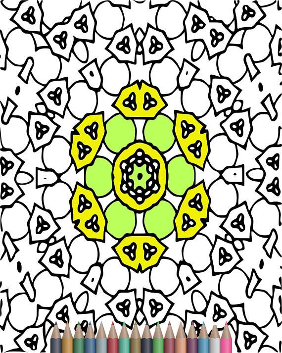 570x713 32 best kaleidoscope coloring pages images on adult