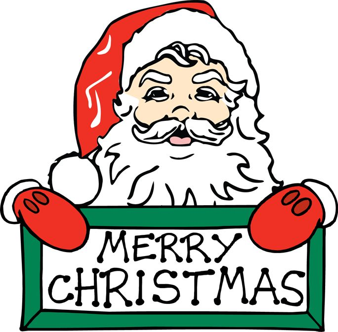 684x673 Free Merry Christmas Clipart
