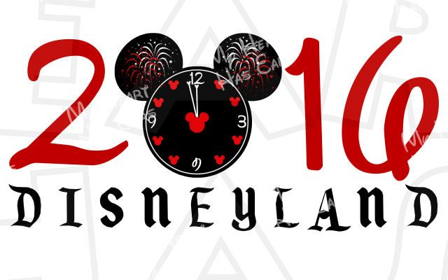 640x400 Mickey Countdown Clock New Year Disneyland 2016 Instant Download