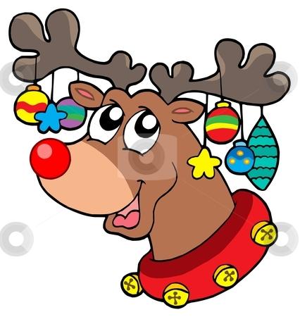 426x450 Decorative Christmas Reindeer Clipart