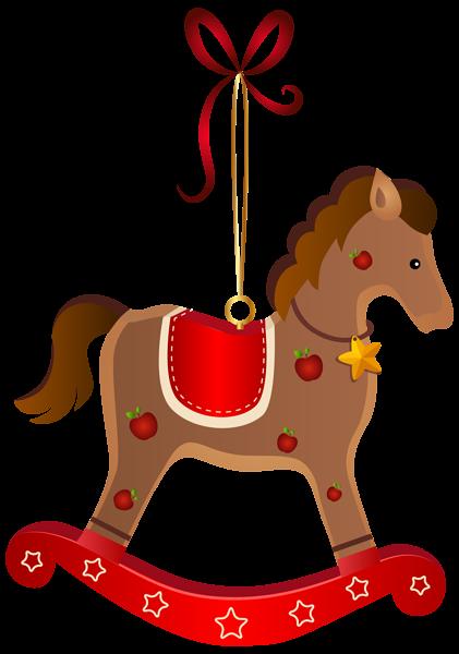 421x600 Rocking Horse Christmas Ornament Transparent Png Clip Art Image