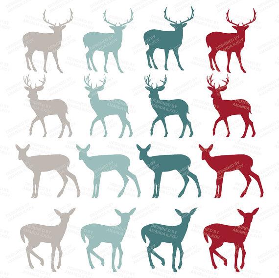 570x569 Premium Christmas Deer Silhouette Clipart Amp Vectors Deer