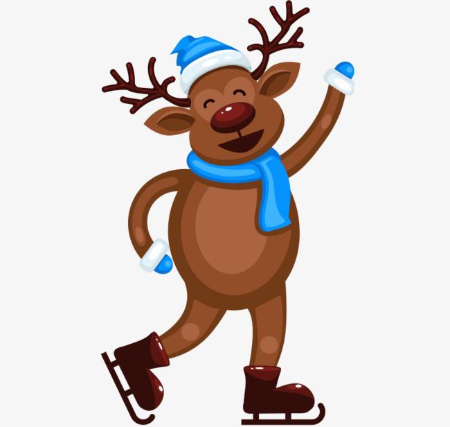 650x616 Roller Skating Christmas Deer, Christmas, Merry Christmas
