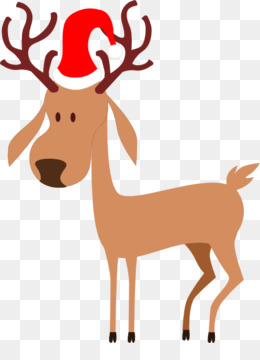 260x360 Rudolph Reindeer Santa Claus Christmas Clip Art