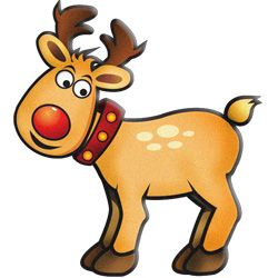 250x250 Christmas Reindeer Clip Art Clip Art