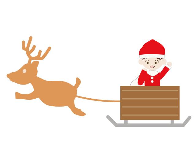640x480 Christmas Sori Reindeer Santa