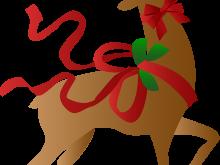 220x165 Christmas Deer Clipart A Christmas Reindeer Clip Art Merry
