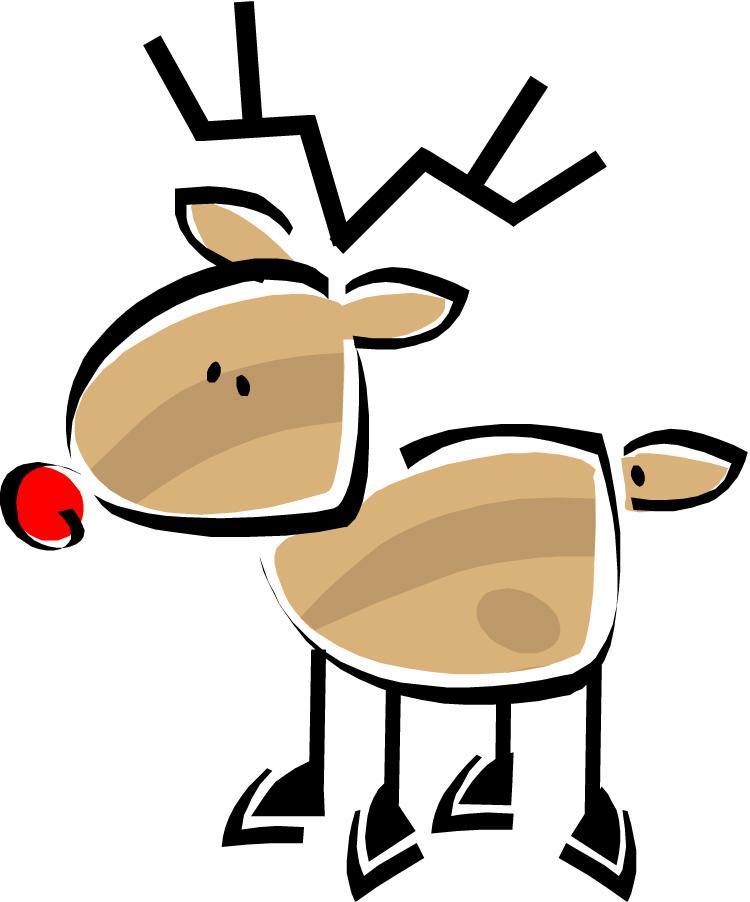 750x902 Christmas Deer Clipart