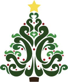 234x283 Christmas Tree Design Featuring Abstract Swirls Im Going