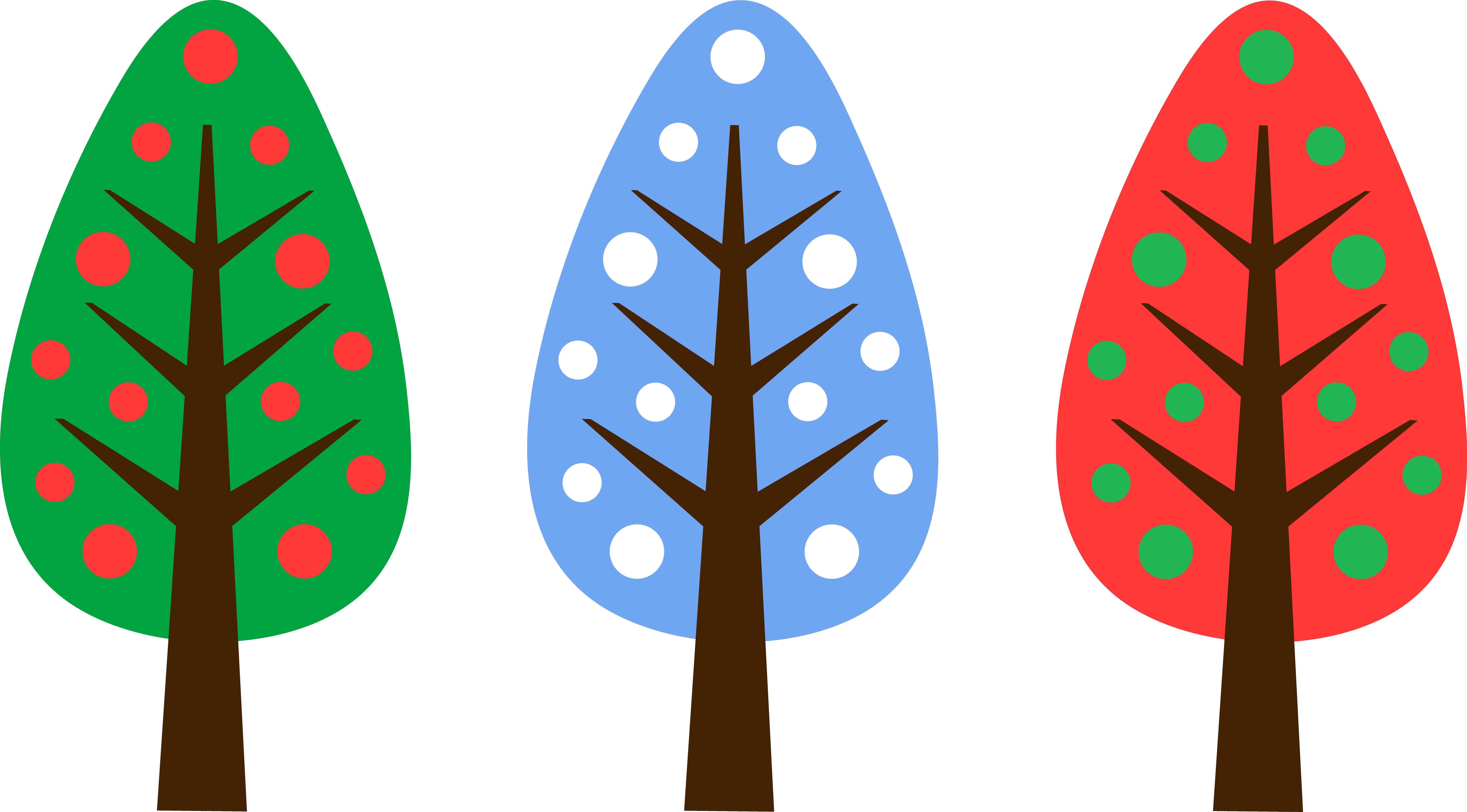 6887x3814 cute unique christmas tree designs