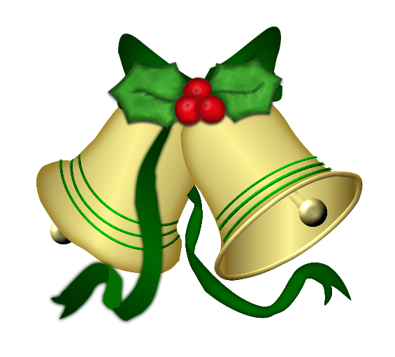 565x510 Collection Of Free Clipart Christmas Bells With Holly High