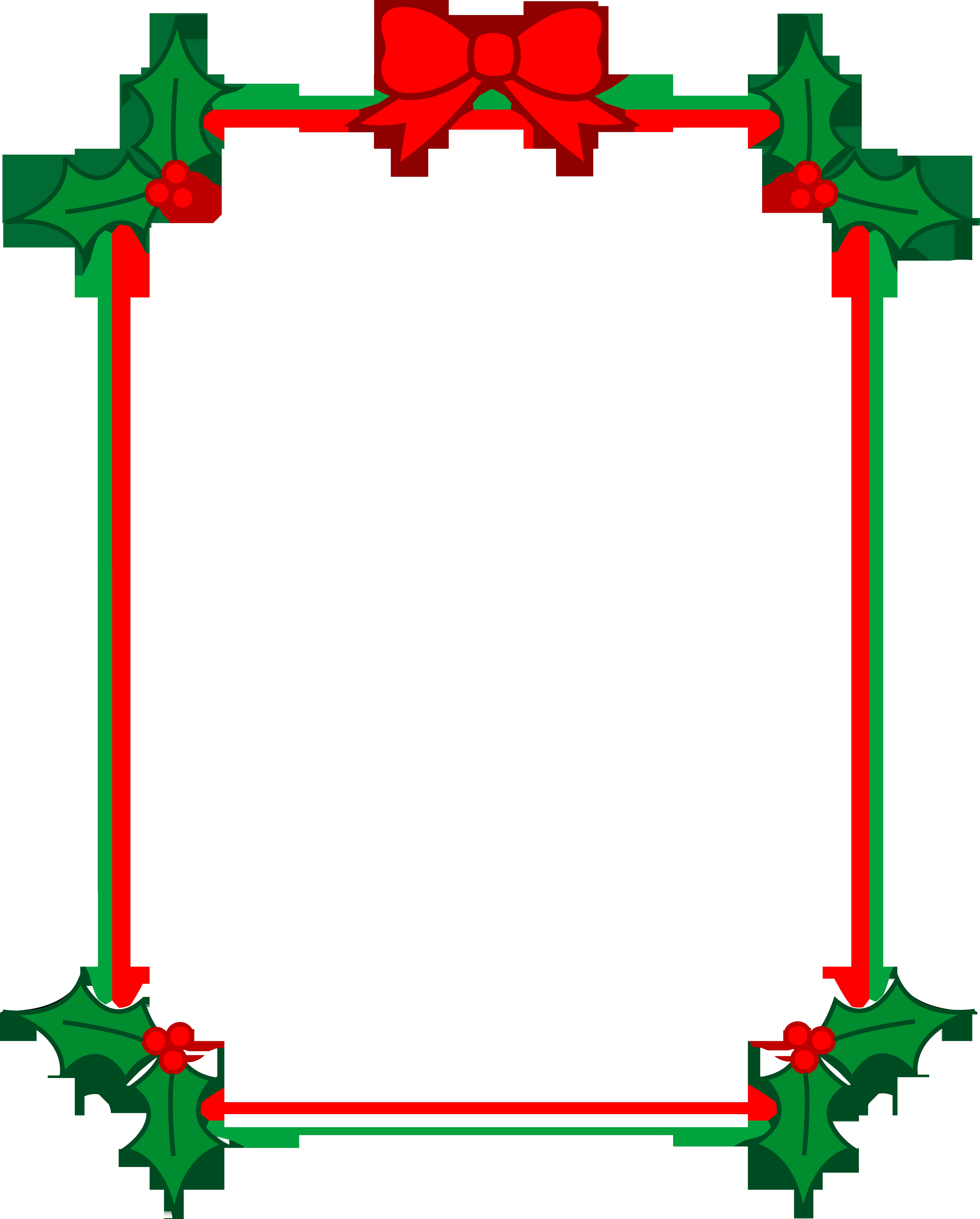 4822x6000 Best Of Christmas Borders Clipart Design