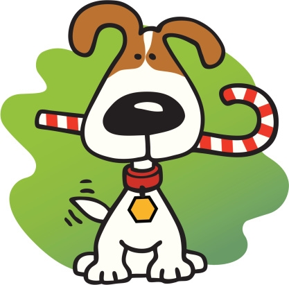 417x411 Christmas Dogs Clipart