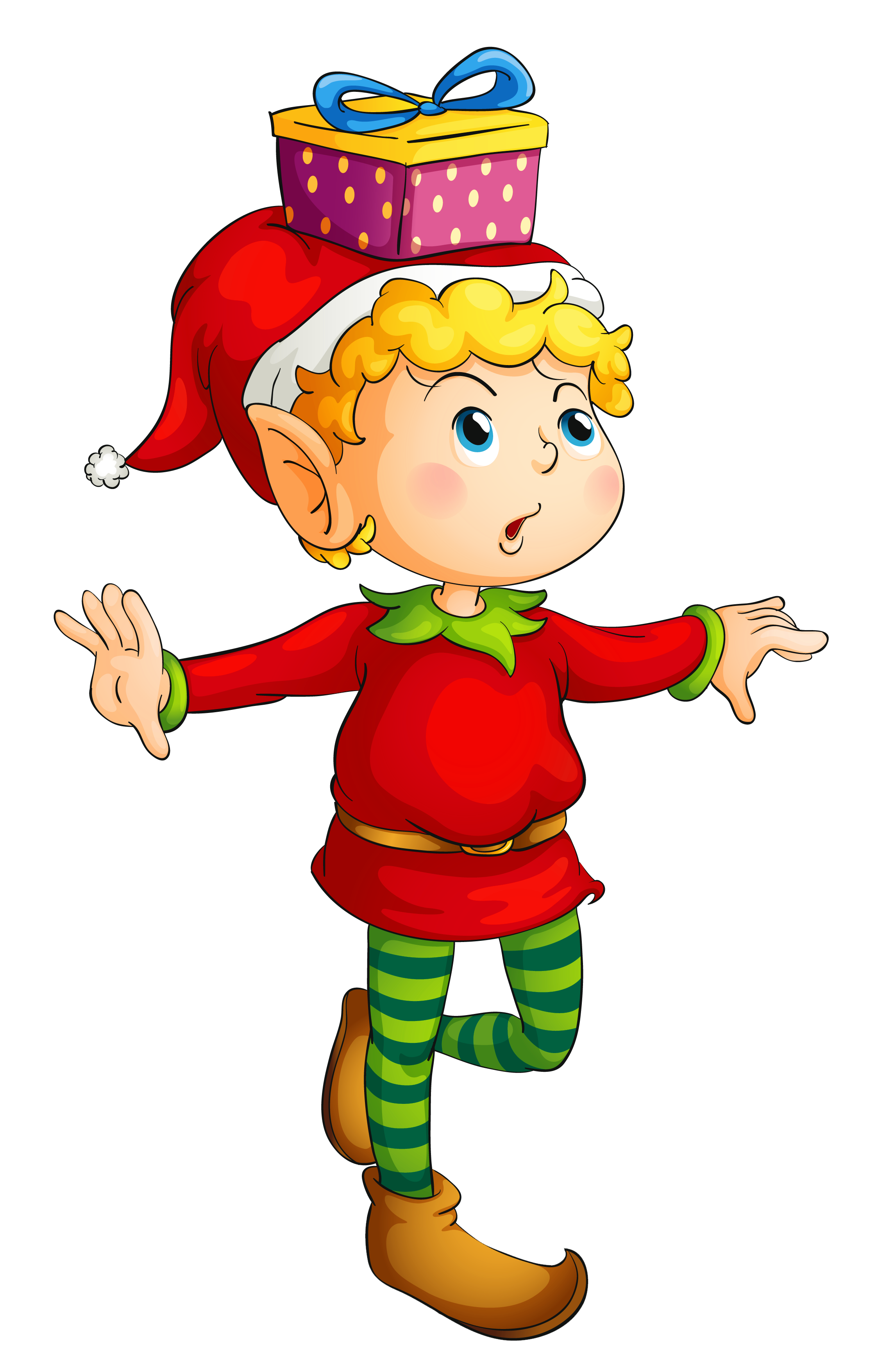 2224x3510 Christmas Elf With Gift Png Pictureu200b Gallery Yopriceville