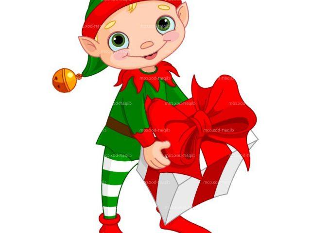 640x480 Christmas Elves Clipart Group