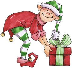 236x223 Country Christmas Elf Clipart