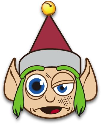 340x416 Crazy Elf With Green Hair Clip Art