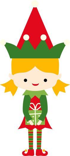 236x524 Christmas Girl Elf Clip Art Clip Art