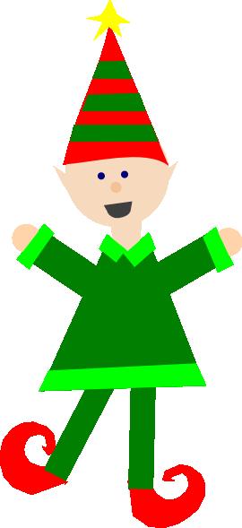 270x589 Christmas Elf Clip Art