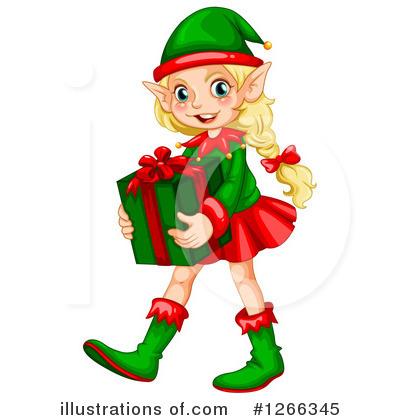 400x420 Christmas Elf Clipart