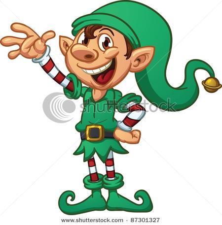450x457 Cartoon Christmas Elf