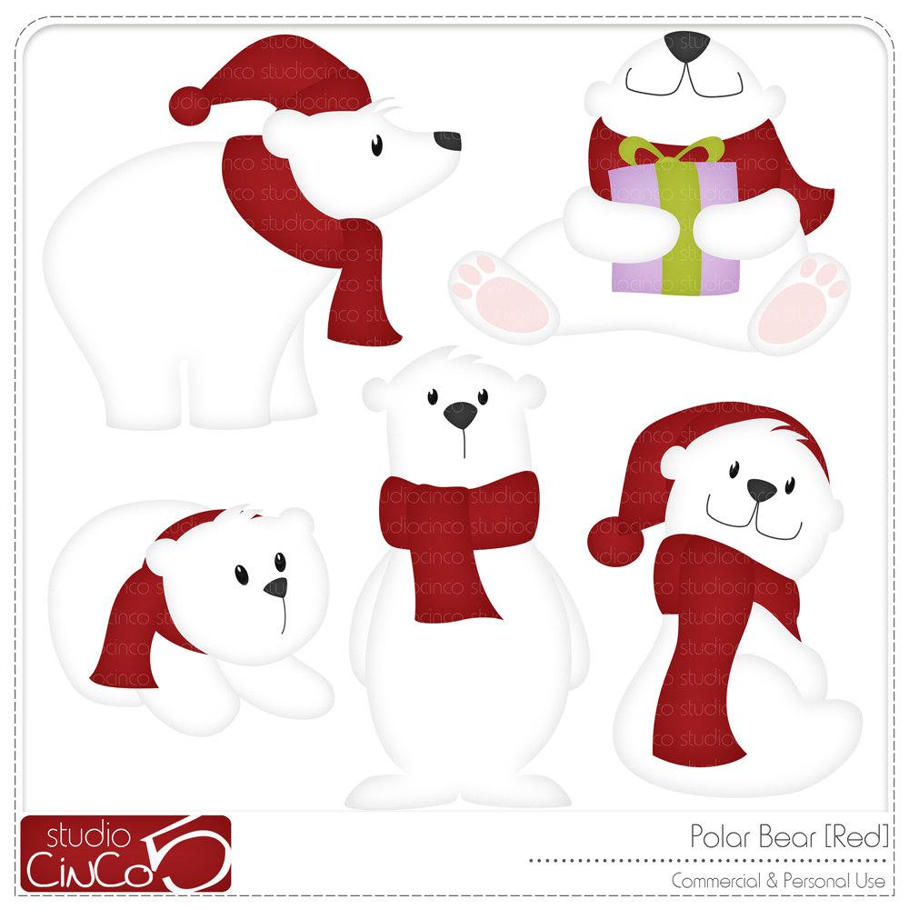 1000x1000 Free Christmas Polar Bear Clipart