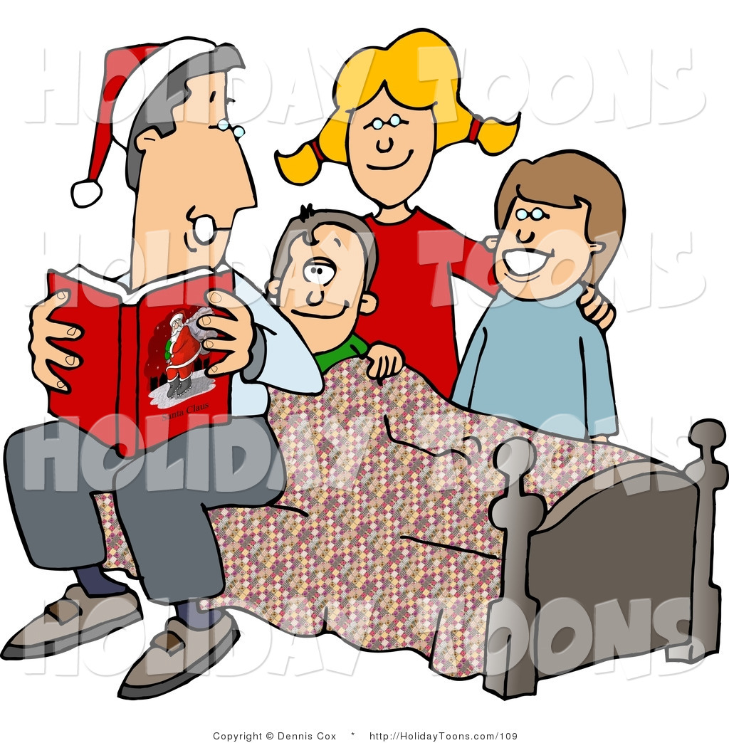 1024x1044 Royalty Free Holiday Clipart Of A Father Reading A Bedtime