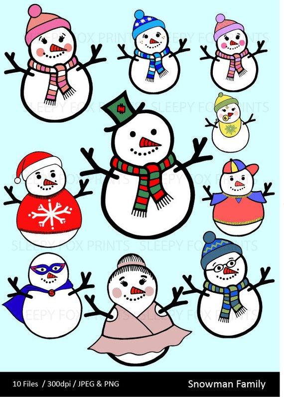 570x796 Snowman Family Clip Art