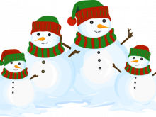 220x165 Snowman Family Clipart Snowman Family Snowman And Family On White