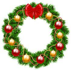 235x230 Transparent Christmas Wreath PNG Clipart Printibles