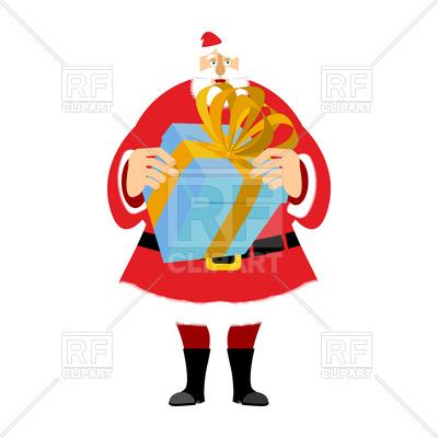 400x400 Santa Claus And Gift Box