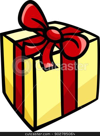 340x464 Christmas Or Birthday Gift Clip Art Stock Vector