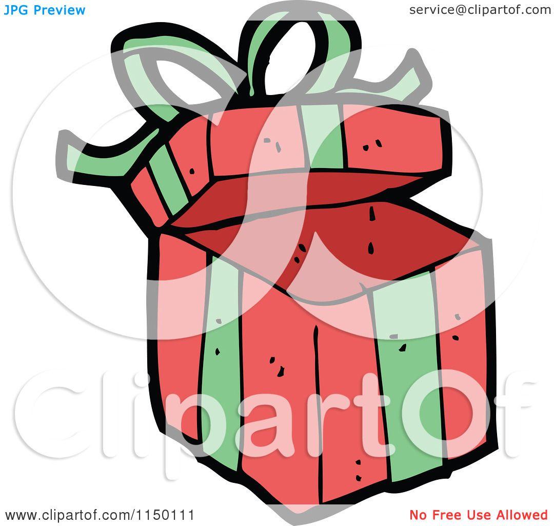 1080x1024 Cartoon Of A Christmas Gift Box